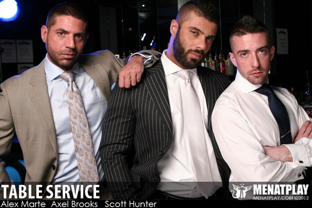 Men at Play: Alex Marte, Axel Brooks and Scott Hunter