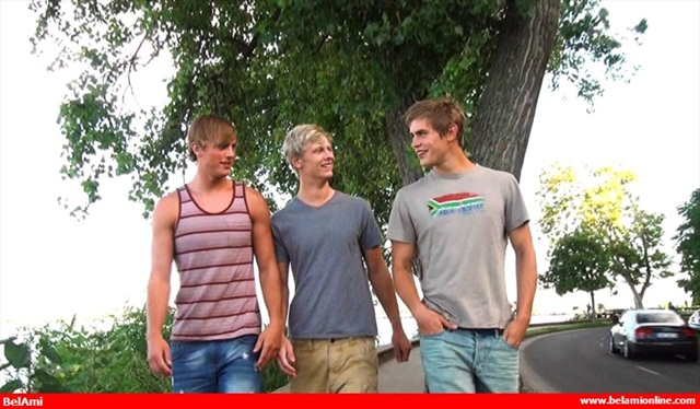 Belami: Mick Lovell, Dolph Lambert and Alex Waters, three hot guys, what next? Threesome!