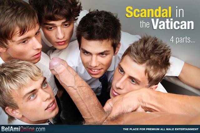 Belami Kinky Angels seduce priest Trevor Yates in the Vatican - Scandal!