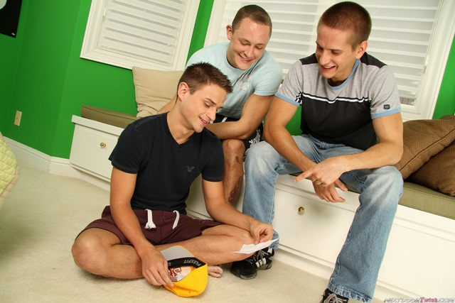 Hot twink threesome Trevor Laster with Jackson Taylor and Jaques LeCoque