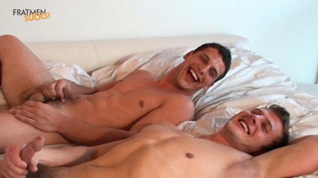 Straight guys for gay guys Fratmen Braden Fratmen Wally 08 photo1 - Straight dudes kiss with Fratmen Braden and Wally