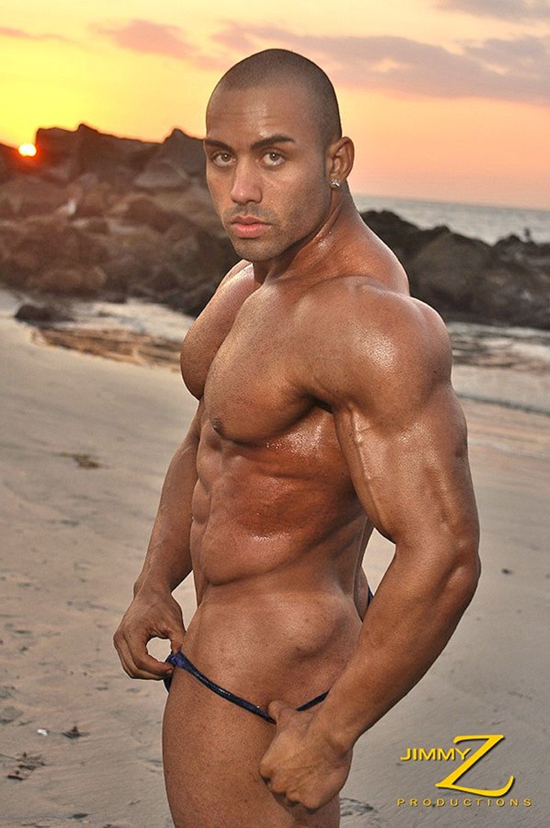 JimmyZProductions Alavi Damante bodybuilder muscles oiled ripped body thong glutes naked cigar smoking 002 male tube red tube gallery photo1 - Alavi Damante