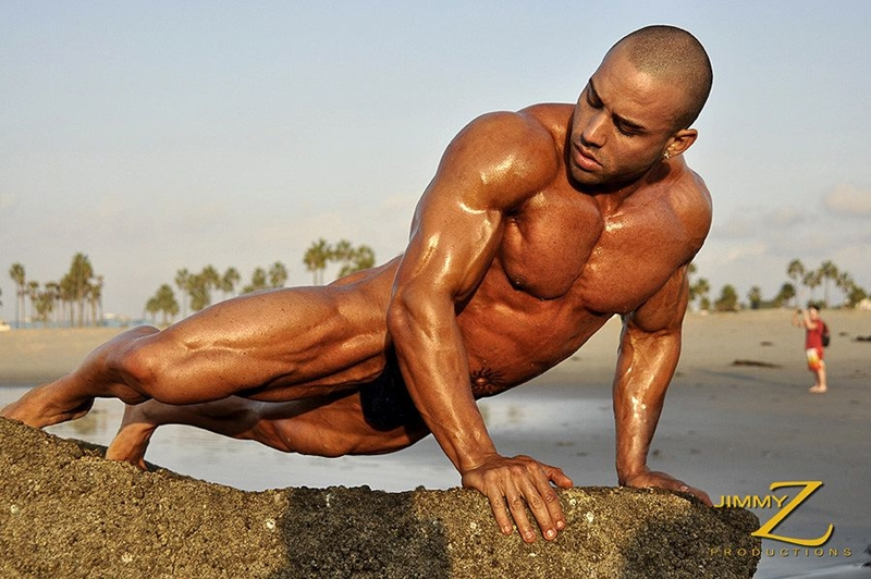JimmyZProductions Alavi Damante bodybuilder muscles oiled ripped body thong glutes naked cigar smoking 003 male tube red tube gallery photo1 - Alavi Damante
