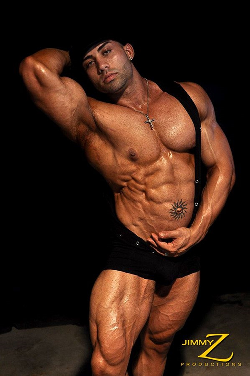 JimmyZProductions Alavi Damante bodybuilder muscles oiled ripped body thong glutes naked cigar smoking 005 male tube red tube gallery photo1 - Alavi Damante