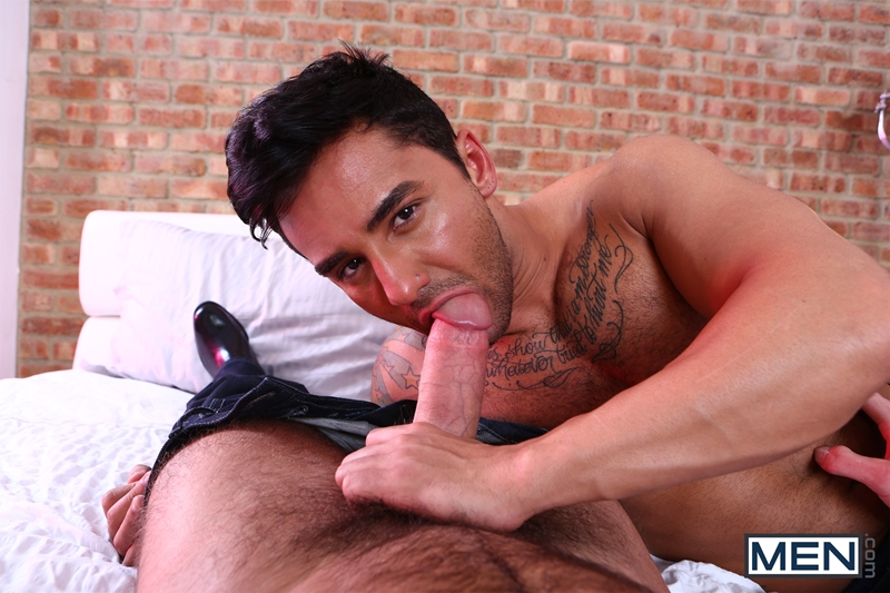 Bruno Bernal lets out screams of pleasure as he rides Paddy O'Brian's convict cock