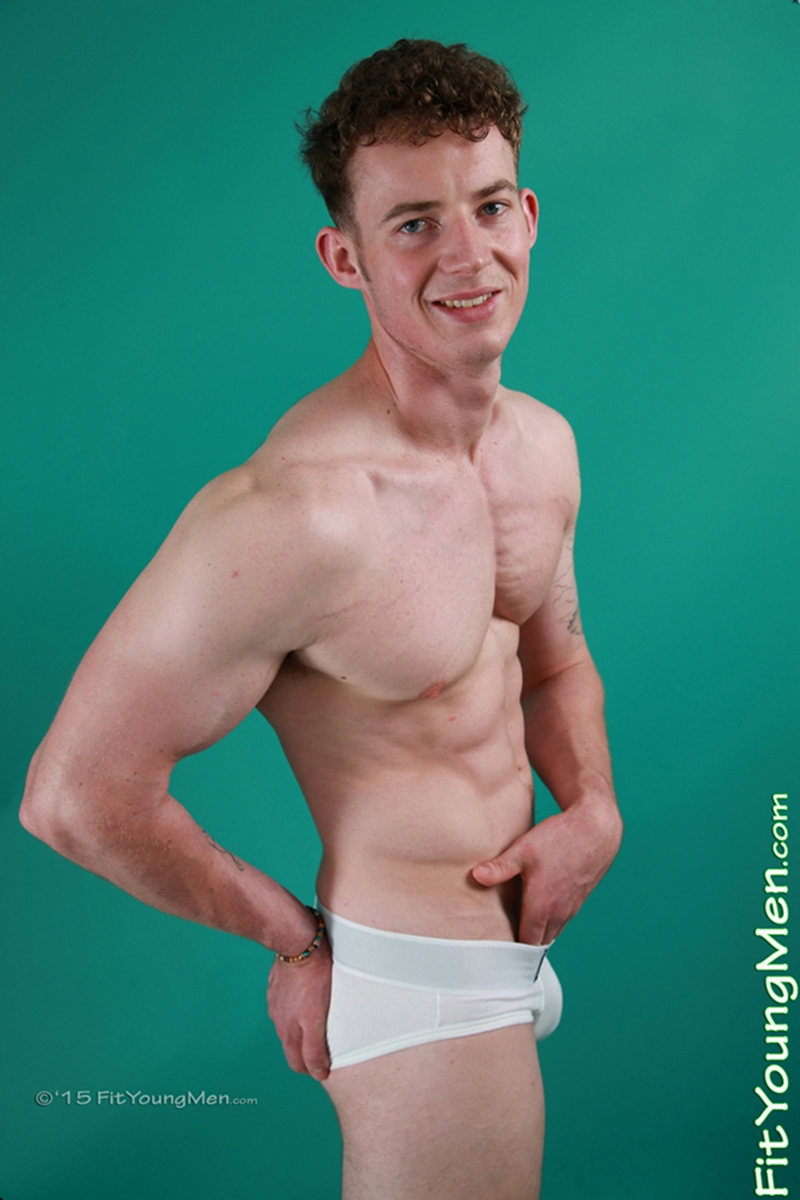 23 year old gym boy Tom Sutcliffe strips down to his sexy underwear