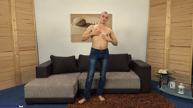 BadPuppy 23 year old naked young boy Oleg Moloda muscles sexy male underwear pubic hair bush hairy ass hole jerking thick uncut cock 001 gay porn sex gallery pics video photo 1 2 - 23 year old Oleg Moloda jerks his huge uncut cock to a massive cumshot