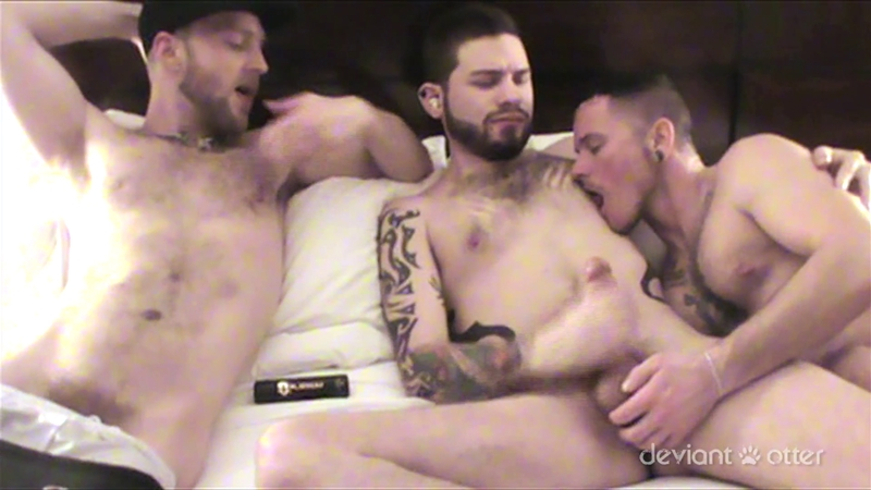 DeviantOtter dirty fuckers ink piercings hot raw bare cock fucking cum shot condom free hardcore bareback bearded guys rimming 001 gay porn video porno nude movies pics porn star sex photo - Deviant Otter pure inked and pierced young men filth