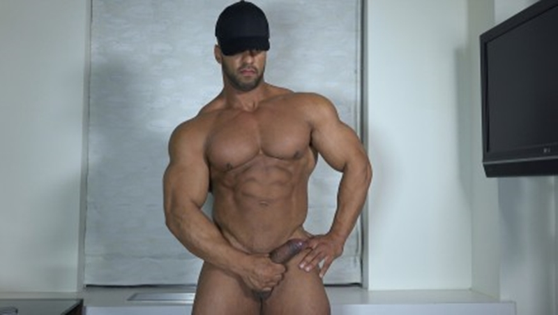TheGuySite muscleman Ty bodybuilding stud shower muscled thighs long uncut dick huge arms built hunk 001 tube video gay porn gallery sexpics photo - Sexy built bodybuilder Ty shows off his muscles
