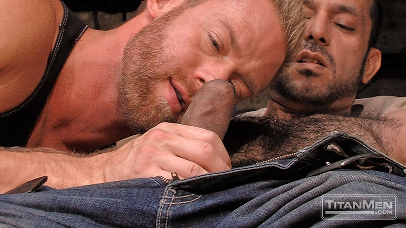 TitanMen blond muscle Christopher Daniels hairy chested hunk Adam Champ muscular butt hole huge uncut cock 001 tube video gay porn gallery sexpics photo - Adam Champ and Christopher Daniels