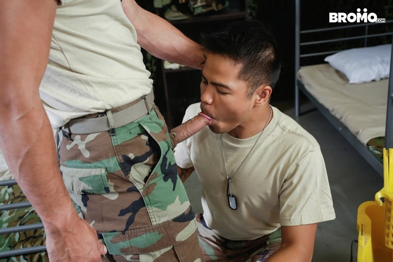 Cesar-Xes-hungry-bottom-bitch-John-Rene-huge-cock-fuck-ass-hole-army-barracks-Bromo-001-Gay-Porn-Pics