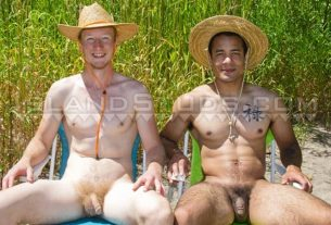 Real classmates rock climber ginger Christian sexy black stud Levaughn outdoors wank piss 001 gay porn pics 305x207 - Real classmates rock climber ginger Christian and sexy black stud Levaughn outdoors wank and piss