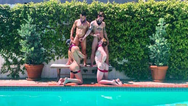 Poolside fuck fest Dakota Payne Jax Thirio huge dicks bareback fucking sexy boys Max Lorde Devyn Pauly 2 gay porn pics - Poolside fuck fest Dakota Payne and Jax Thirio's huge dicks bareback fucking sexy boys Max Lorde and Devyn Pauly