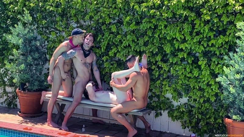 Poolside fuck fest Dakota Payne Jax Thirio huge dicks bareback fucking sexy boys Max Lorde Devyn Pauly 7 gay porn pics - Poolside fuck fest Dakota Payne and Jax Thirio's huge dicks bareback fucking sexy boys Max Lorde and Devyn Pauly