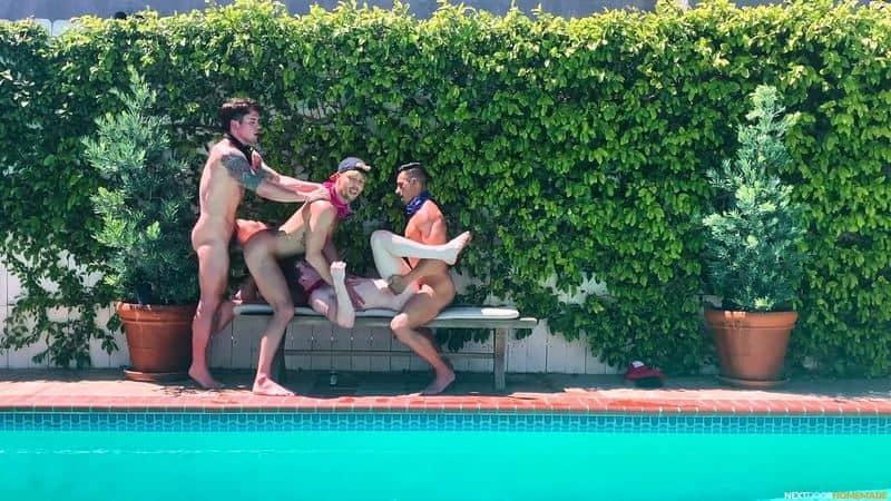 Poolside fuck fest Dakota Payne Jax Thirio huge dicks bareback fucking sexy boys Max Lorde Devyn Pauly 9 gay porn pics - Poolside fuck fest Dakota Payne and Jax Thirio's huge dicks bareback fucking sexy boys Max Lorde and Devyn Pauly