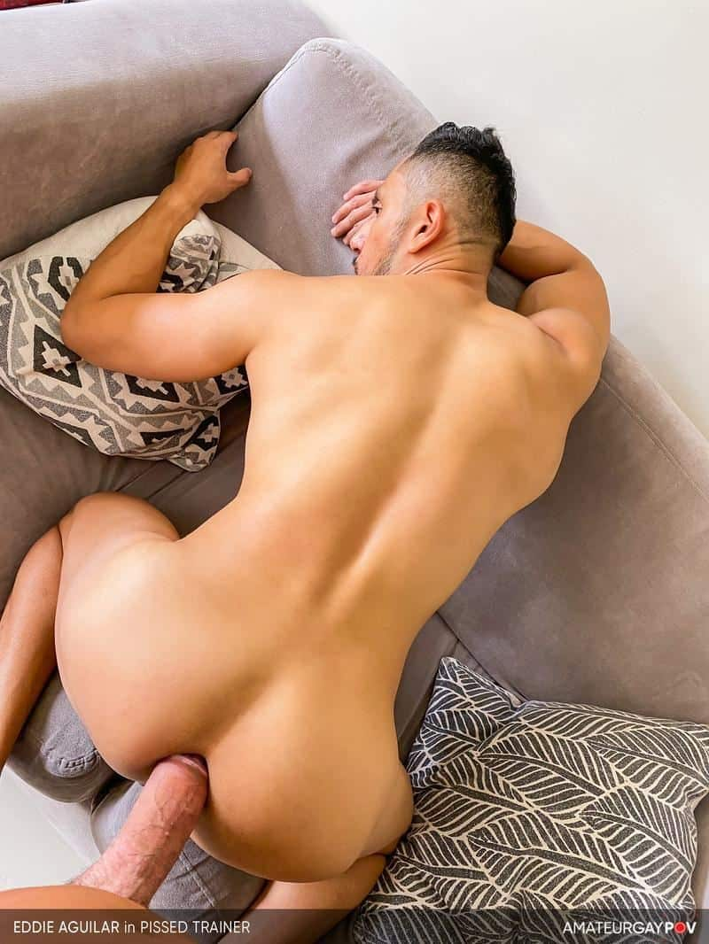 Hot bearded muscle hunk Eddie Aguilar hot bubble butt raw fucked huge uncut dick 1 gay porn pics - Hot bearded muscle hunk Eddie Aguilar's hot bubble butt raw fucked by huge uncut dick
