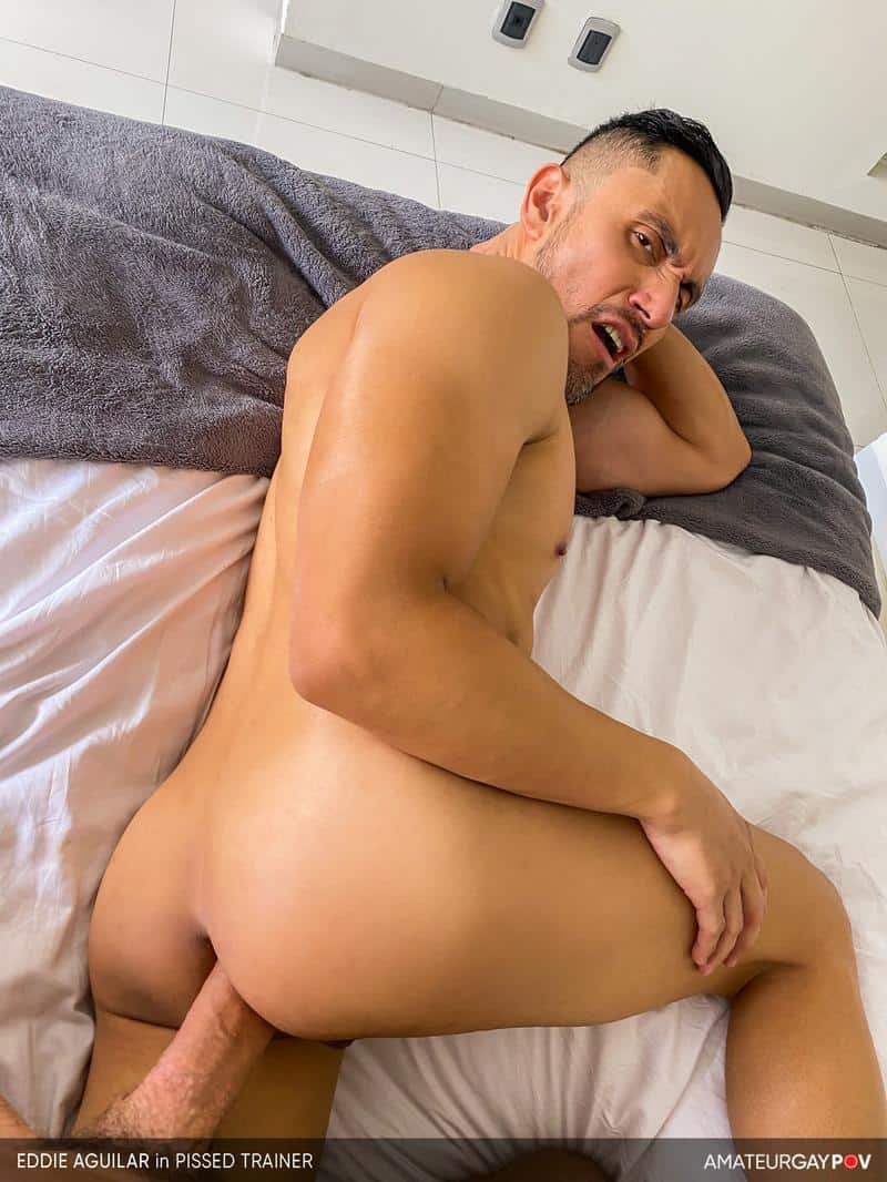 Hot bearded muscle hunk Eddie Aguilar hot bubble butt raw fucked huge uncut dick 14 gay porn pics - Hot bearded muscle hunk Eddie Aguilar's hot bubble butt raw fucked by huge uncut dick