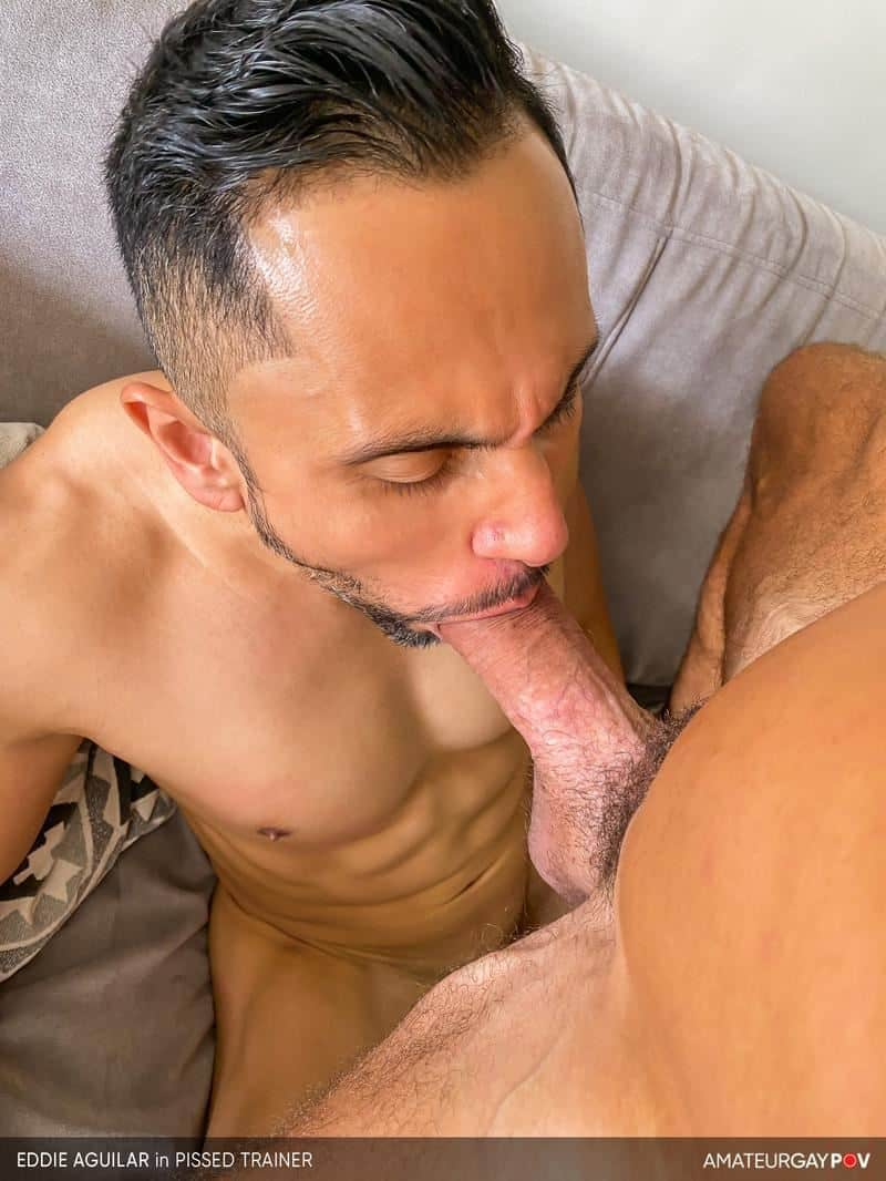 Hot bearded muscle hunk Eddie Aguilar hot bubble butt raw fucked huge uncut dick 15 gay porn pics - Hot bearded muscle hunk Eddie Aguilar's hot bubble butt raw fucked by huge uncut dick