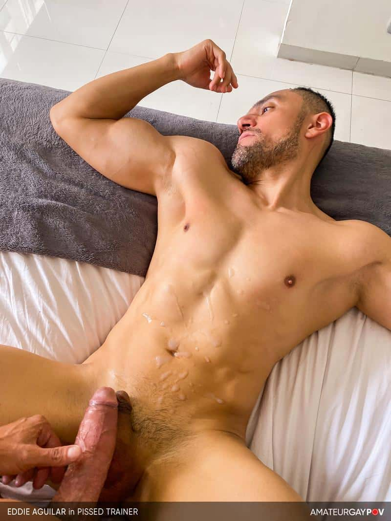 Hot bearded muscle hunk Eddie Aguilar hot bubble butt raw fucked huge uncut dick 21 gay porn pics - Hot bearded muscle hunk Eddie Aguilar's hot bubble butt raw fucked by huge uncut dick