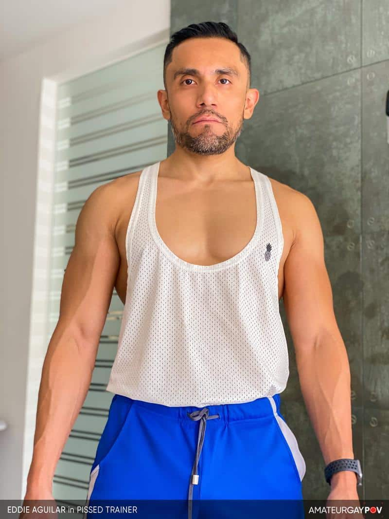 Hot bearded muscle hunk Eddie Aguilar hot bubble butt raw fucked huge uncut dick 3 gay porn pics - Hot bearded muscle hunk Eddie Aguilar's hot bubble butt raw fucked by huge uncut dick