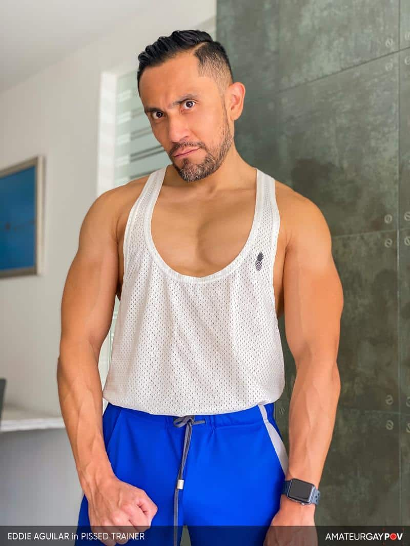 Hot bearded muscle hunk Eddie Aguilar hot bubble butt raw fucked huge uncut dick 4 gay porn pics - Hot bearded muscle hunk Eddie Aguilar's hot bubble butt raw fucked by huge uncut dick