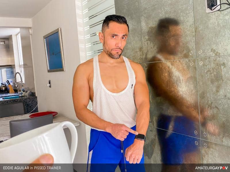 Hot bearded muscle hunk Eddie Aguilar hot bubble butt raw fucked huge uncut dick 5 gay porn pics - Hot bearded muscle hunk Eddie Aguilar's hot bubble butt raw fucked by huge uncut dick