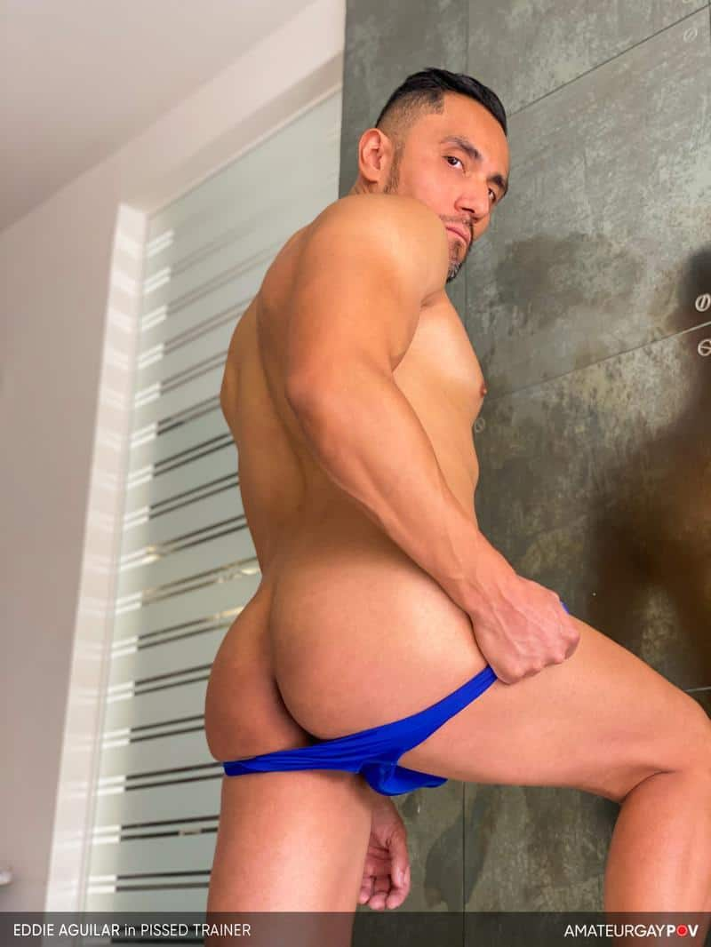 Hot bearded muscle hunk Eddie Aguilar hot bubble butt raw fucked huge uncut dick 9 gay porn pics - Hot bearded muscle hunk Eddie Aguilar's hot bubble butt raw fucked by huge uncut dick