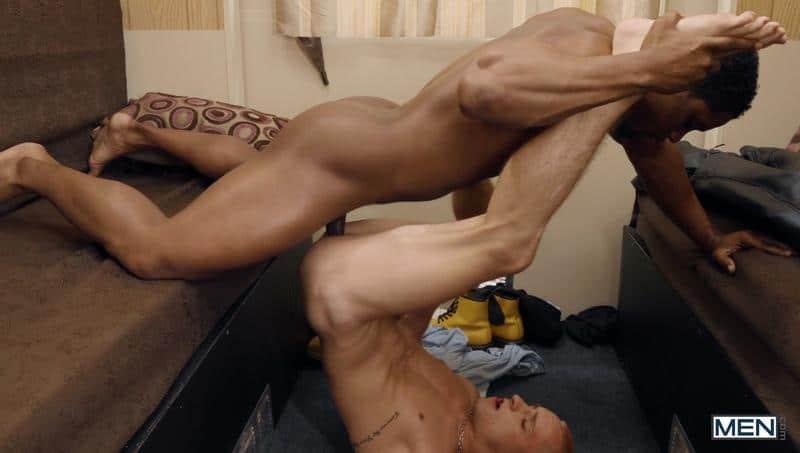 Sexy black muscle stud DeAngelo Jackson huge cock bareback fucking young dude Theo Brady 13 gay porn pics - Sexy black muscle stud DeAngelo Jackson's huge cock bareback fucking young dude Theo Brady