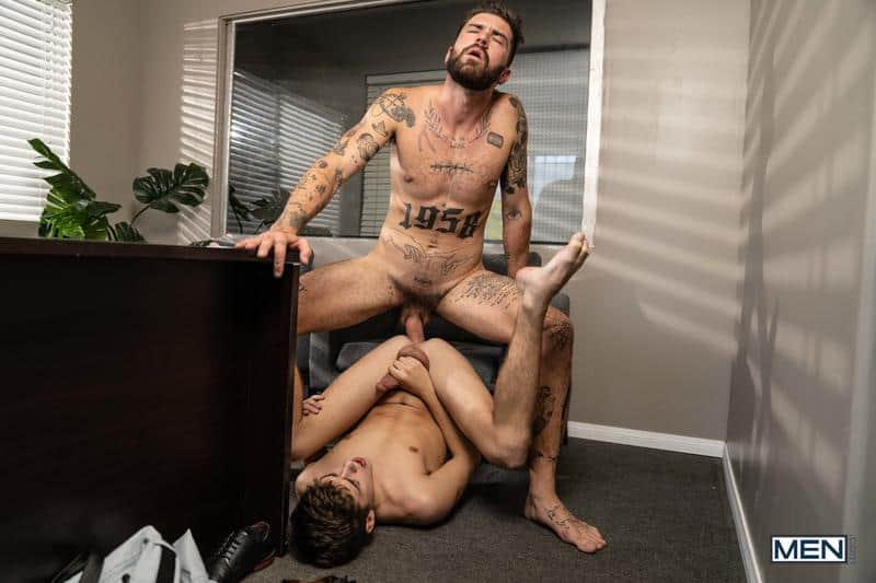 Sexy young twink Joey Mills smooth asshole raw fucked tattoo hunk Chris Damned big uncut dick 16 gay porn pics - Sexy young twink Joey Mills's smooth asshole raw fucked by tattoo hunk Chris Damned's big uncut dick
