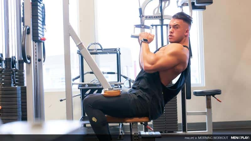 Big muscle hunk Phillipe Massa flexes gym stroking huge thick dick huge cumload 4 gay porn pics - Big muscle hunk Phillipe Massa flexes in the gym before stroking his huge thick dick to a huge cumload