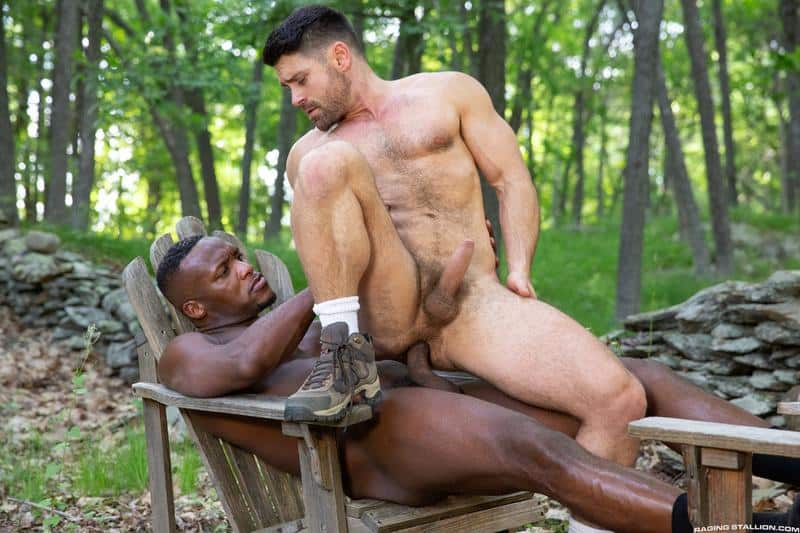 Horny muscle dude Beau Butler hairy asshole fucked Andre Donovan huge black cock 12 gay porn pics - Horny muscle dude Beau Butler's hairy asshole fucked by Andre Donovan's huge black cock
