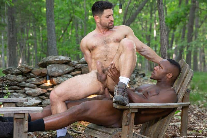 Horny muscle dude Beau Butler hairy asshole fucked Andre Donovan huge black cock 13 gay porn pics - Horny muscle dude Beau Butler's hairy asshole fucked by Andre Donovan's huge black cock