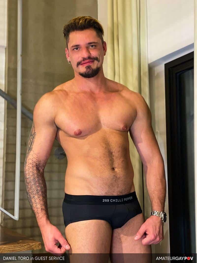 Hot bearded muscle bottom Daniel Toro sucked fucked older hunk Manuel Skye 8 gay porn pics - Hot bearded muscle bottom Daniel Toro sucked and fucked by older hunk Manuel Skye