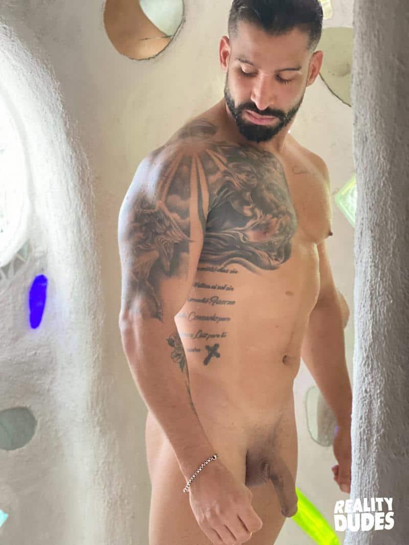 Tattooed Latino hunk Octavio hot asshole bare fucked Rob Campos huge thick dick 8 gay porn pics - Tattooed Latino hunk Octavio's hot asshole bare fucked by Rob Campos's huge thick dick